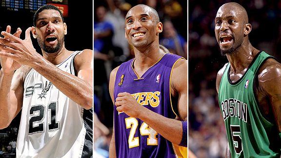 Duncan, Kobe, Garnett