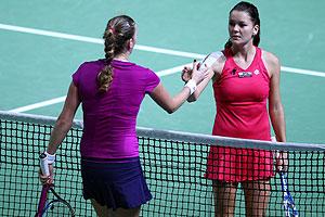 Petra Kvitova y Agnieszka Radwanska