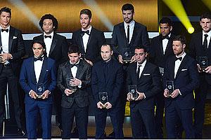 El equipo ideal 2012 de la FIFA