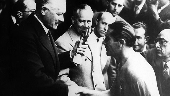 Albert Lebrun y Giuseppe Meazza