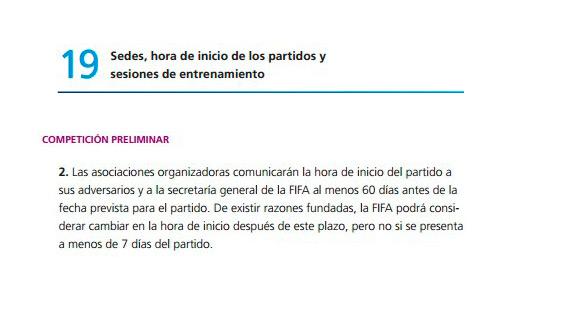 Reglamento FIFA