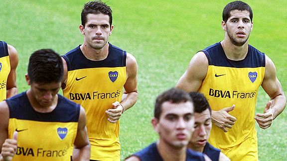 Fernando Gago y Emanuel Insúa