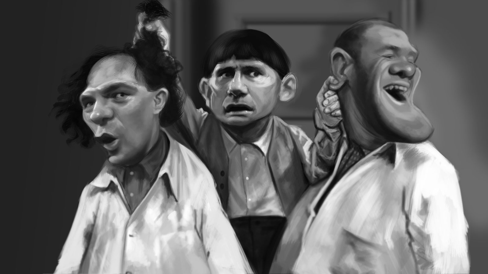 Curly Rooney, Larry Gerrard y Moe Lampard