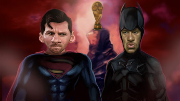 Superman Messi y Batman Neymar