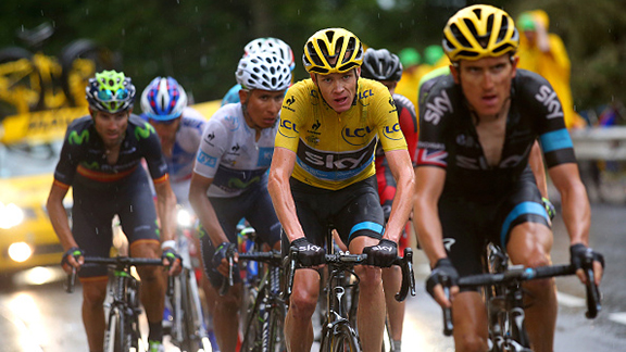 Geraint Thomas y Chis Froome