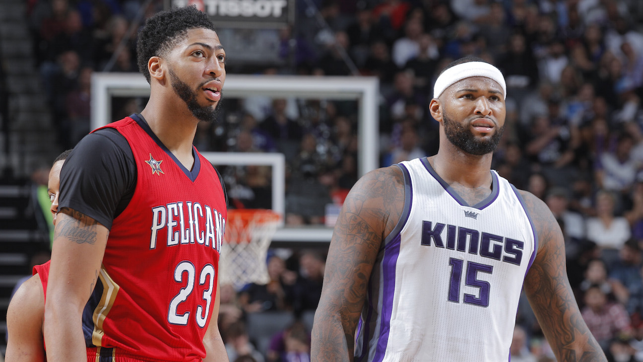 Anthony Davis y DeMarcus Cousins