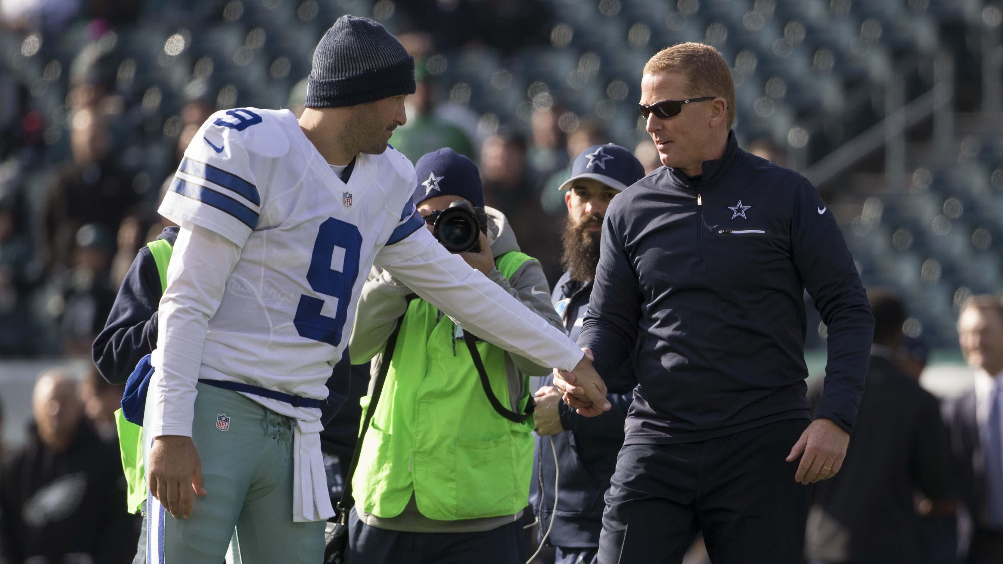 Jason Garrett y Tony Romo
